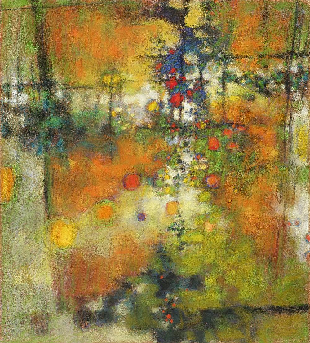 "Infinite Now  | pastel on paper | 20 x 18"" | 2009"