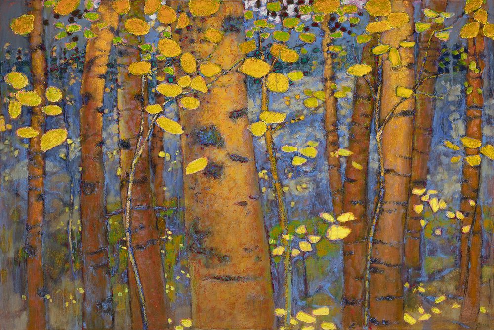 Autumn Leaves  | oil on canvas | 48 x 72"