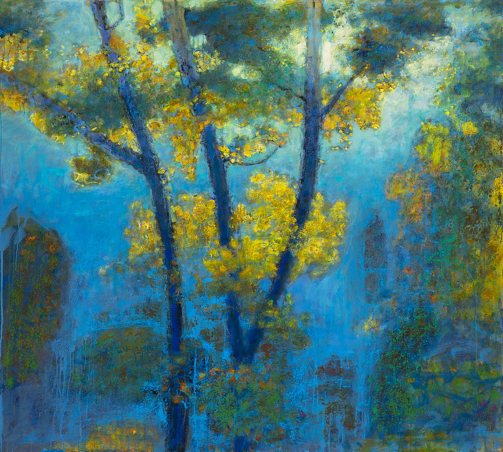 Enveloped in Blue | oil on canvas | 48 x 54"