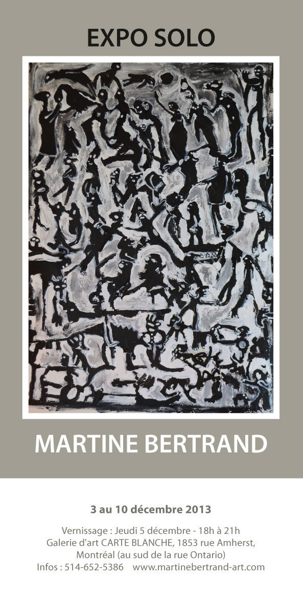 Pour décrire son travail Martine Bertrand a choisi les mots «Encre et Muguet instinctif».
