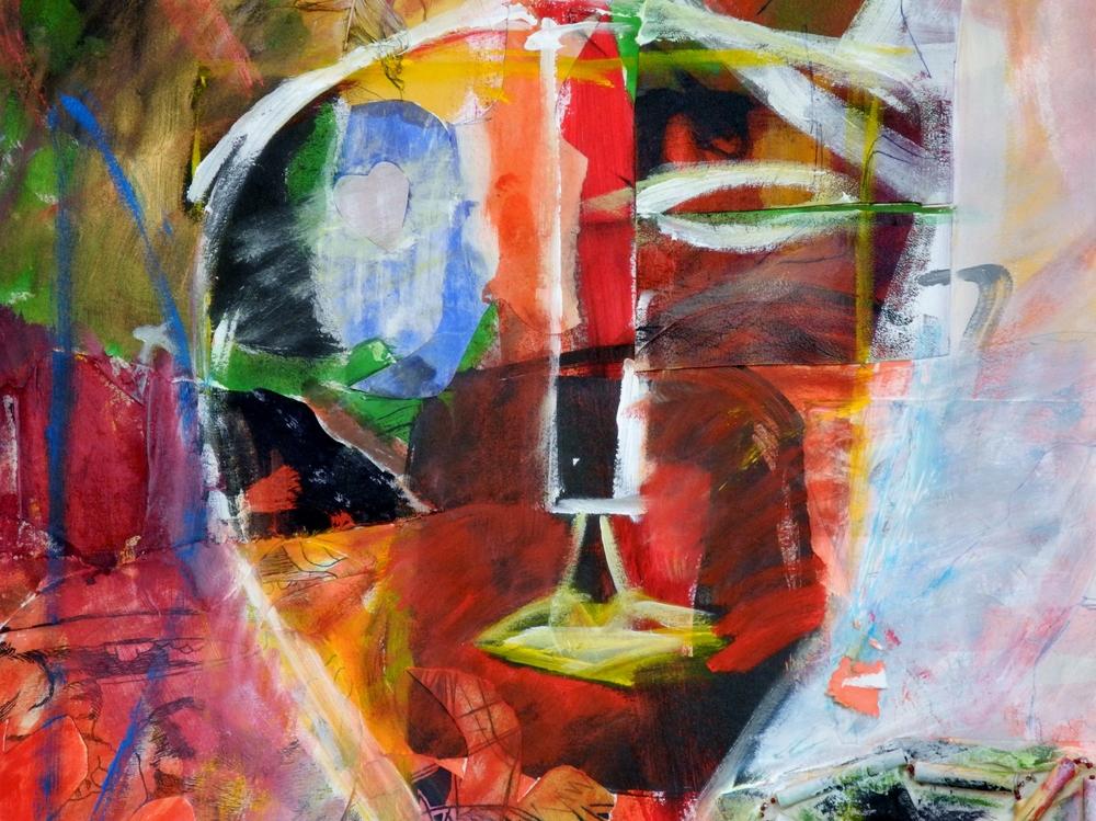 Kittie Bruneau, En l'automne. Technique mixte sur papier.