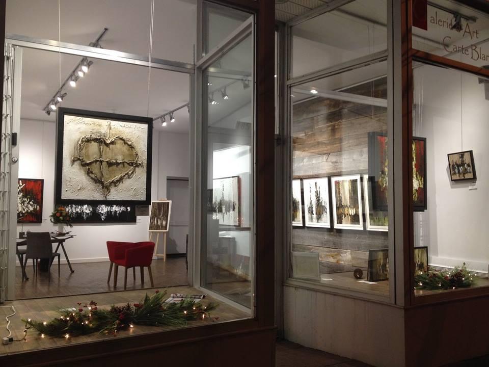 Vue intérieure du 1851 Amherst lors de l'exposition de Luc Fournier fin novembre/début décembre 2014