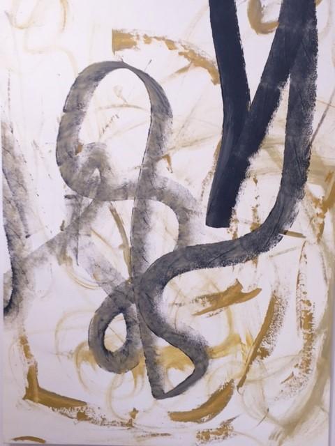 Denis Poirier, Sans titre, acrylique.