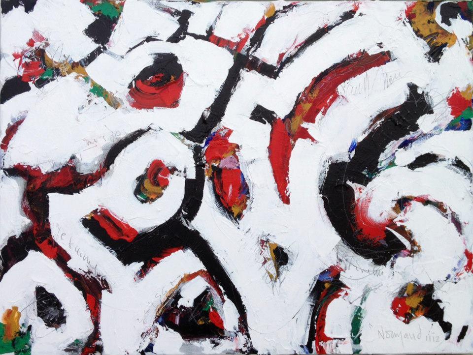 Normand Ouellette,  Envol , acrylique