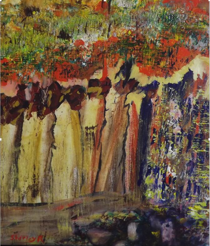 ShirleyRivet,Timidité (2015), acrylique sur toile