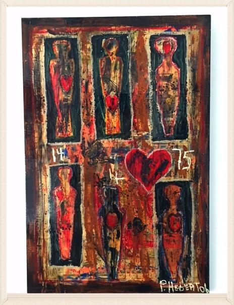 Photographie d'identification d'une œuvre de Pierre Hébert. Photo Galerie Carte Blanche.