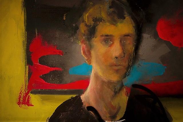 Thomas Brassard, L'atelier (détail), 2016, huile sur toile, 36 x 48 po.