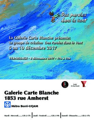 ARTISTES GALERIE CARTE BLANCHE