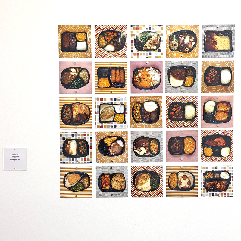 """#3squaremeals installed at SF Camerawork for """"Heat: 2015 Annual Juried Exhibition""""."""