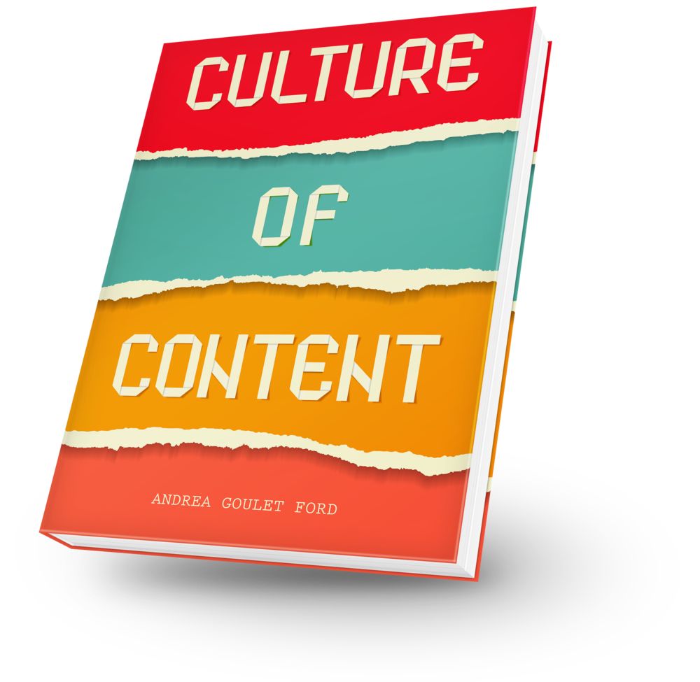 I'm writing a book! Go to cultureofcontent.com to stay in the know.