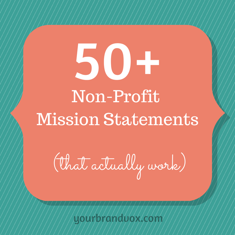 how to write a mission statement for non profit