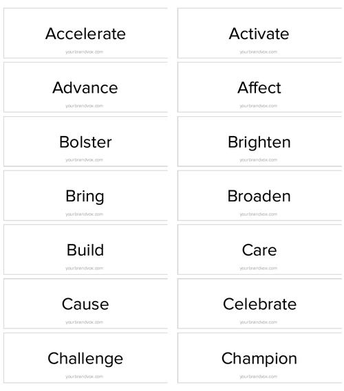 126 Powerful Action Verbs to Kickstart Your Mission Statement