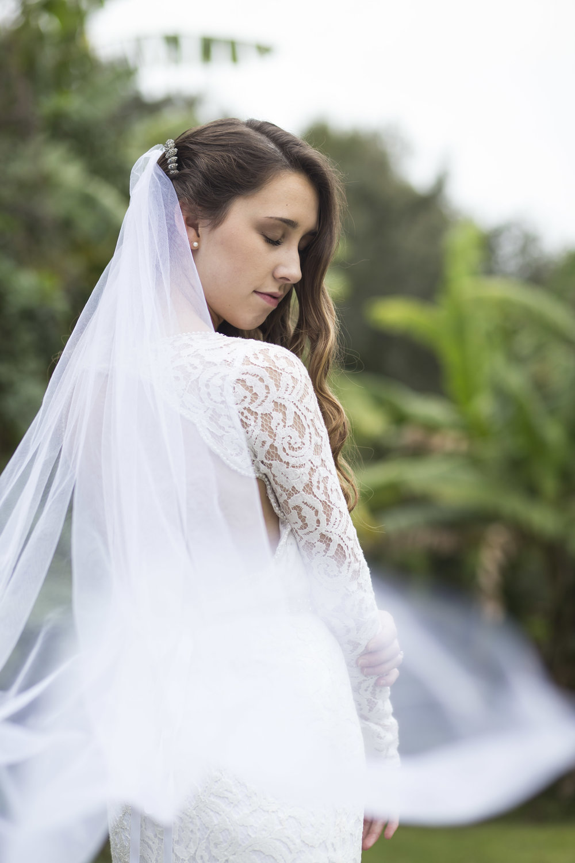 Bridal and veil portrait, Sarasota Florida