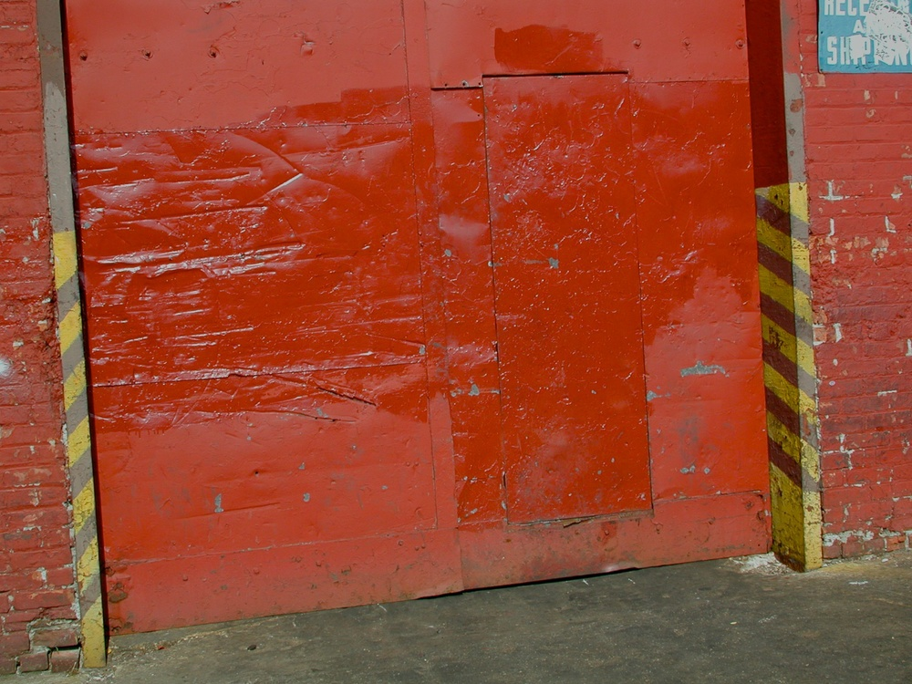 Red with Diagonal Yellow Stripes, Williamsburg, Brooklyn 2001