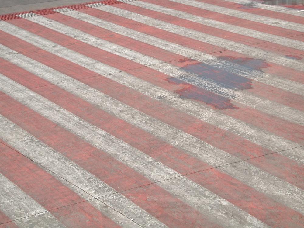 White & Pale Red Stripes, Mexico City, Mexico 2001