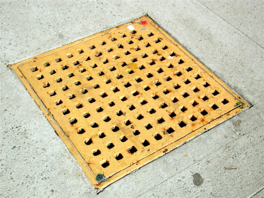 Yellow Diamond with Smaller Black Diamonds and Red Dot, New York, New York 2006