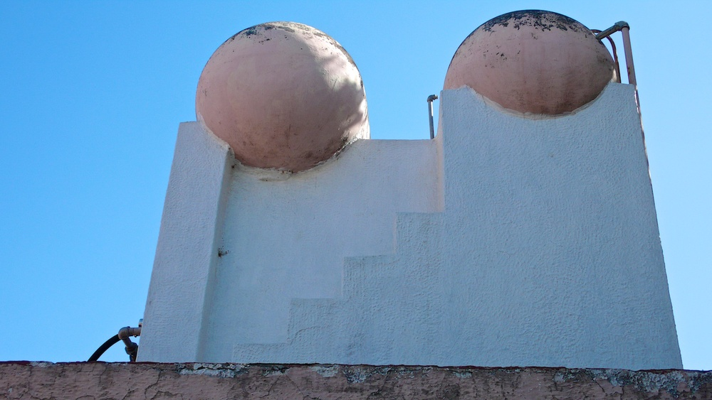 Rose Red Balls on White Structure, Zapopan, Jalisco 2007