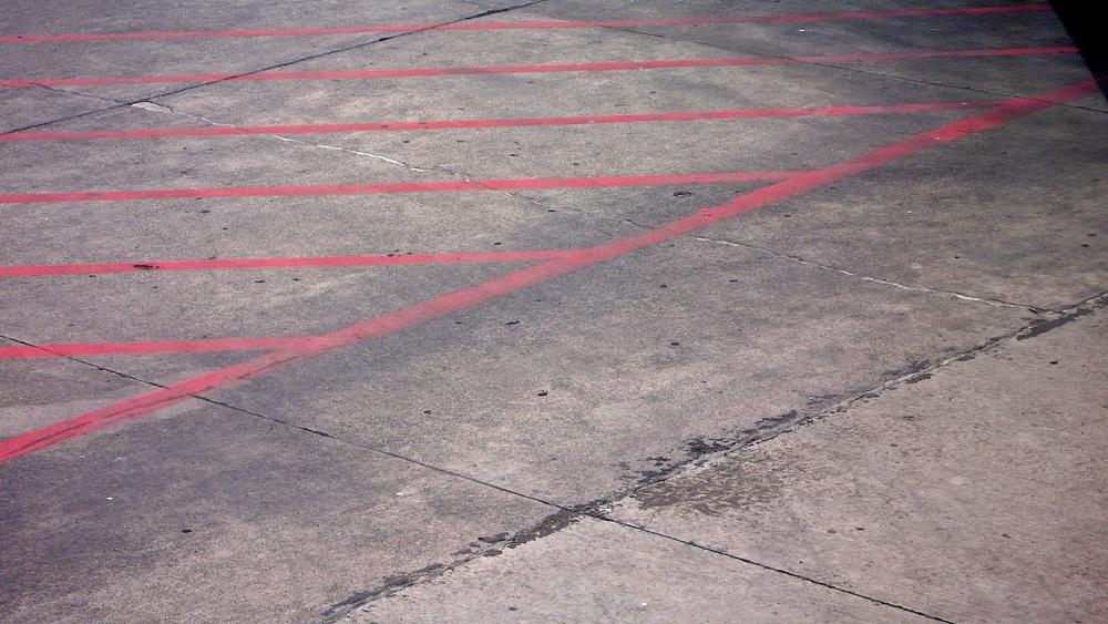 Red Stripes Bound by a Diagonal, Guadalajara, Jalisco 2007