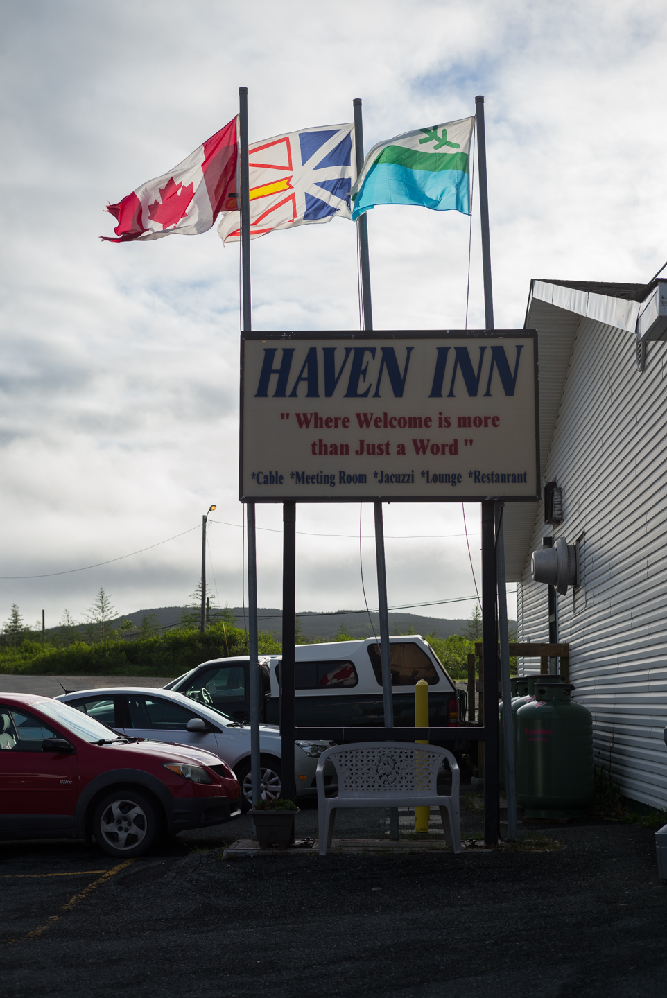 Flags, Haven Inn. St. Anthony, Newfoundland 2016