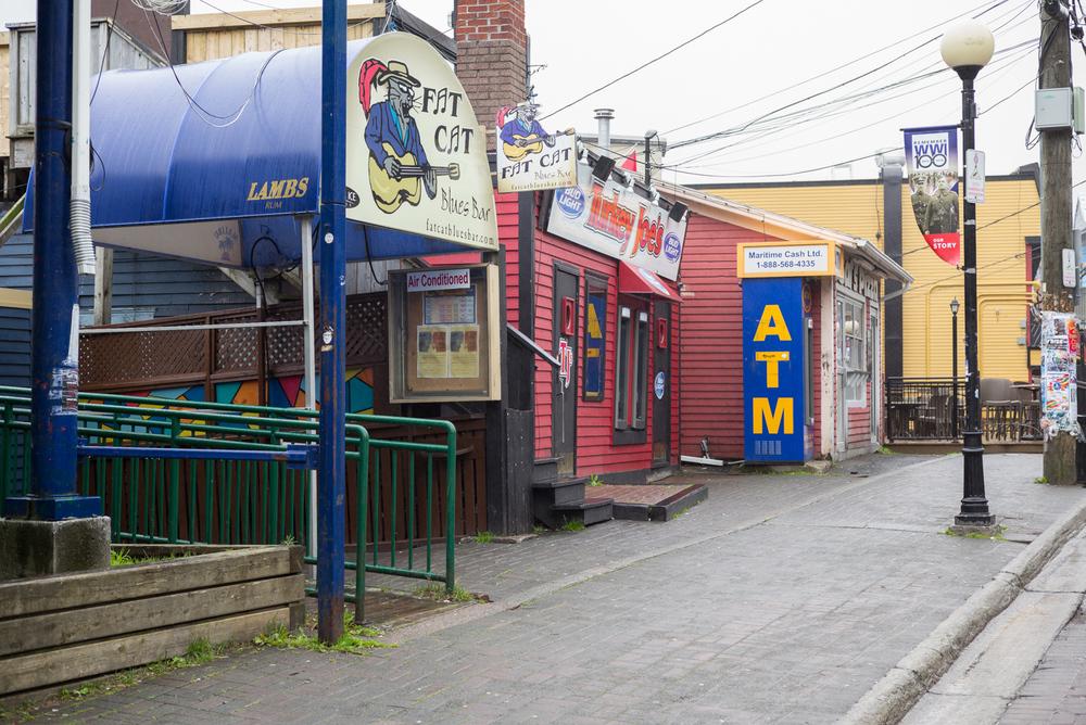 Fat Cat, Turkey Joe's, ATM. George Street. St. John's, Newfoundland 2016