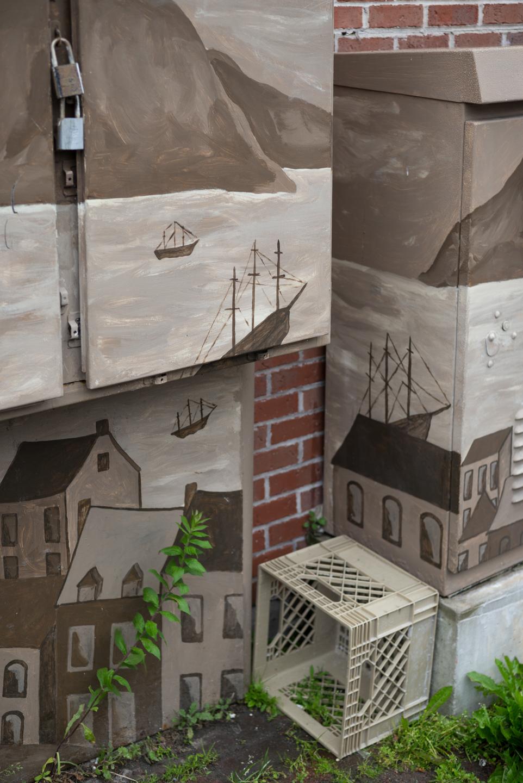 Painted utility boxes. St. John's, Newfoundland 2016