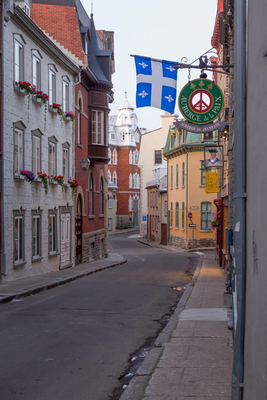 Street in old Québec. Québec City, Québec 2016