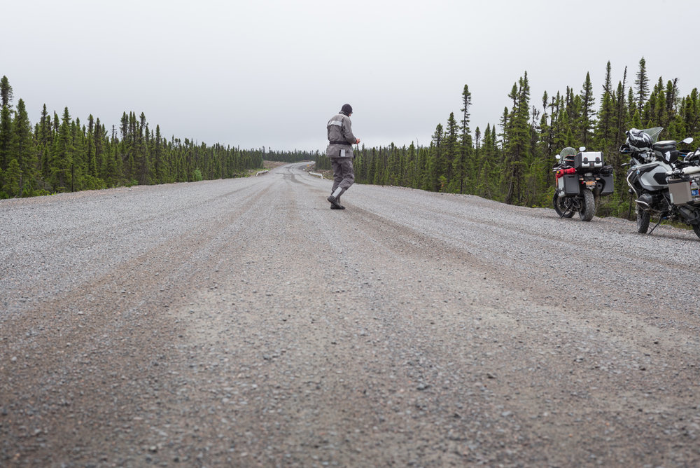 Wednesday June 29. The Trans Labrador Highway, 126 kilometers out of Goose Bay. Labrador 2016