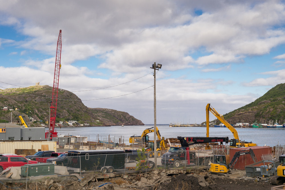 Construction in the harbor. St. John's, Newfoundland 2016