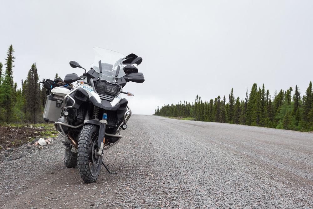 My moto, Trans Labrador Highway. Between Goose Bay and Port Hope Simpson, Labrador 2016