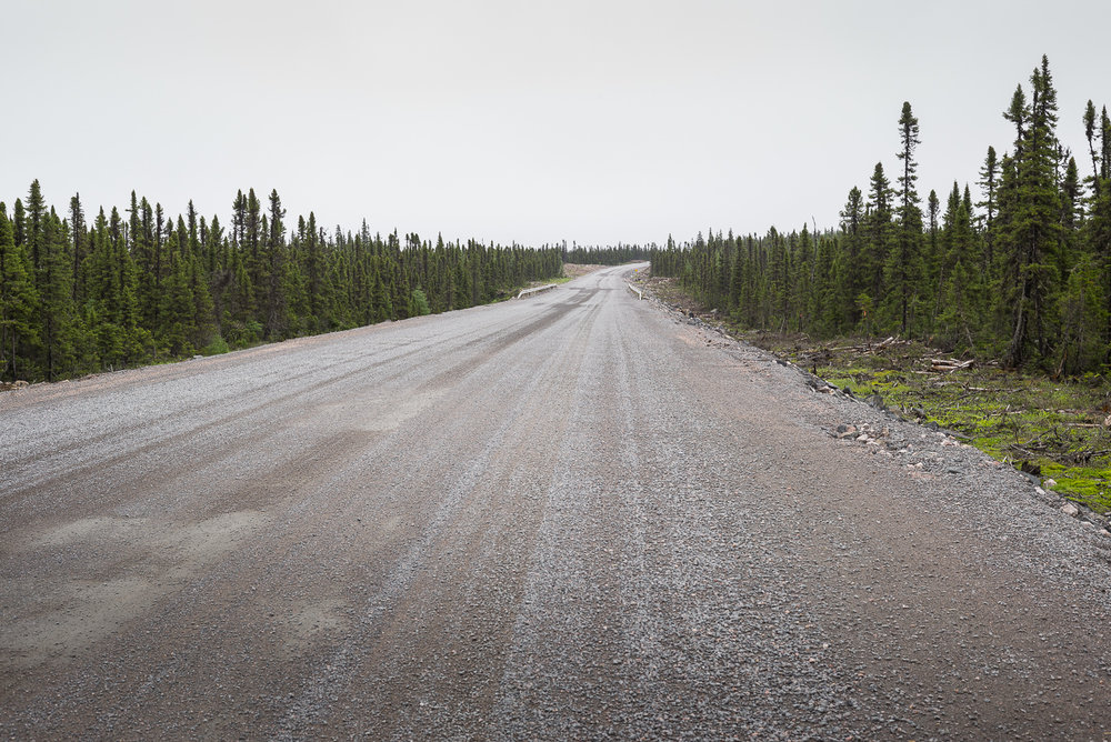The Trans Labrador Highway, 160 kilometers from our destination that day at Port Hope Simpson. 150 kilometers from unexpected whiteout, wash of deep gravel, loss of front end. Labrador 2016