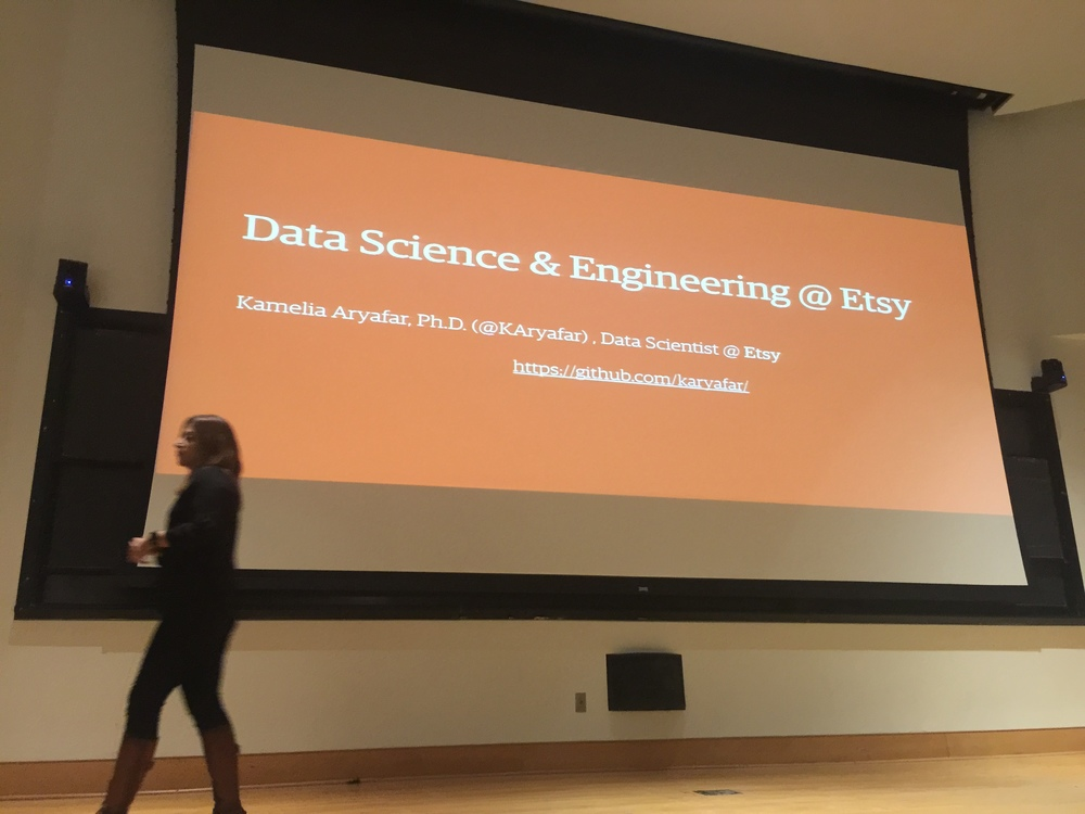 Etsy engineer Kamelia Aryafar's keynote on data science