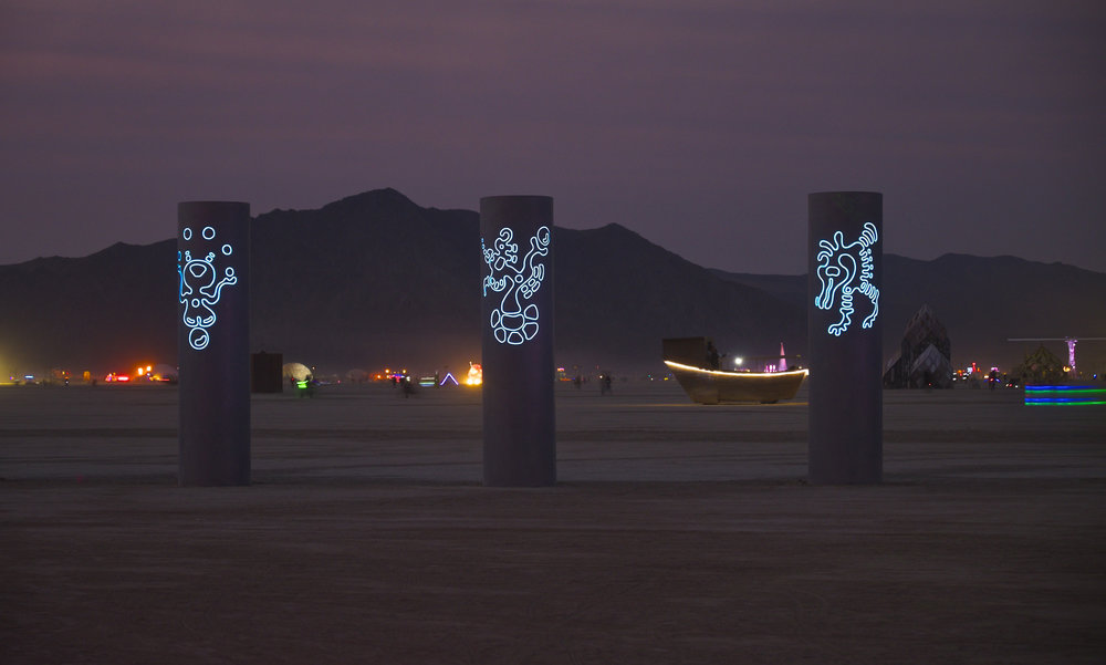 Out on the playa at Burning Man 2013