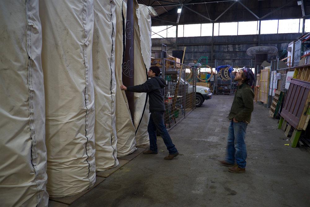 A recent peak of them at American Steel Studios in Oakland, California.