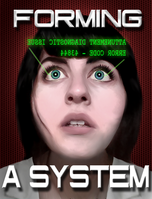 Cover Art for my Science-Fiction Thriller Short Story Forming a System(Available on Kindle Network).