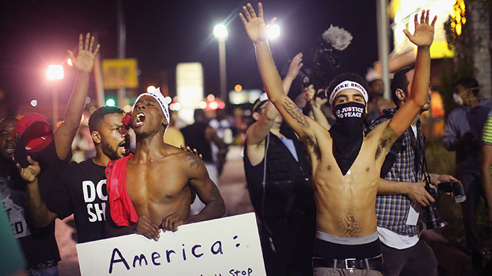 Ferguson Protestors seeking answers through peaceful protests.
