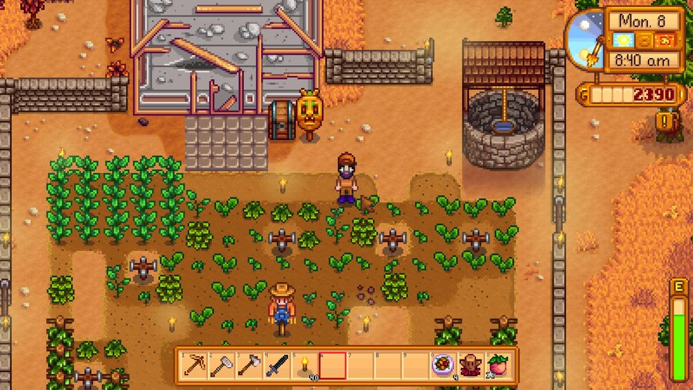 Well the crops are all watered. Now there's Gold in them there mines!
