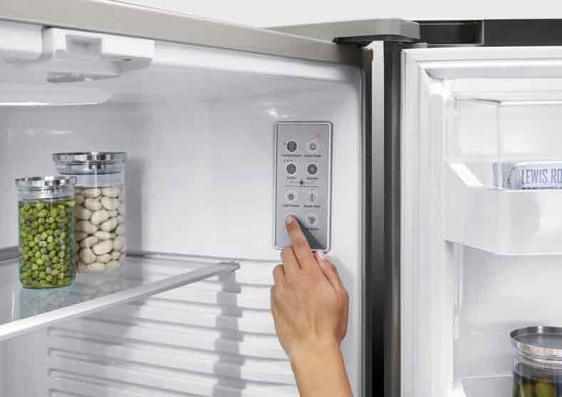 Fisher & Paykel. Internal Fridge/Freezer Controls