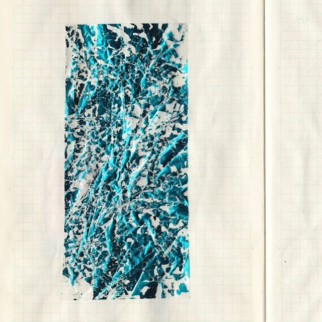 Sketchbook scan v(surface test) • • • • • • • • #austinartist #sketch #ink #collage #mixedmediaart  #atxlife #foil #keepaustinweird #femaleartist #reflection #meditation #houstonartist #texasartist  #digitalart #atxartist #atx #sketchbook #markmaking #line #digitalcollage #surfacedesign #icomefromthewater