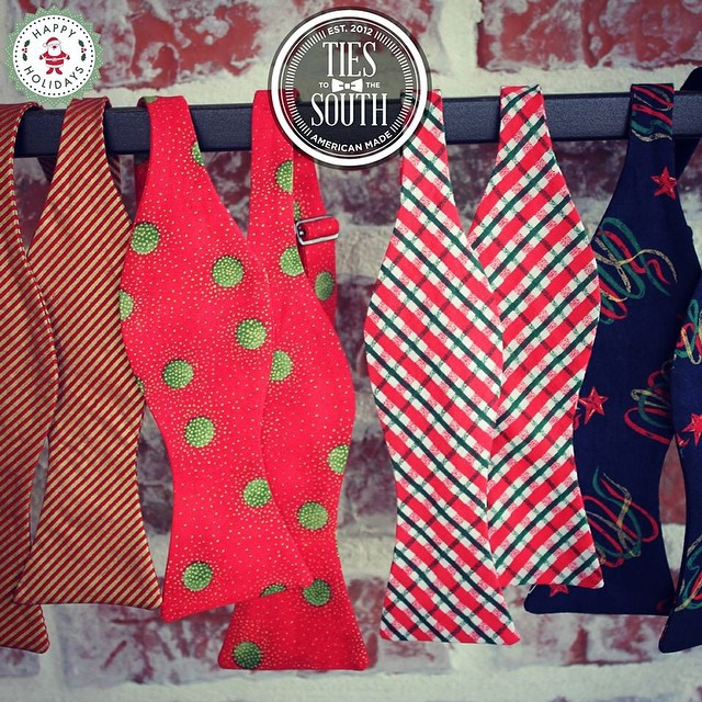With FREE shipping and a $38 price tag, our bow ties make great gifts and stocking stuffers! Order yours today at www.TiesToTheSouth.com #tiestothesouth #happyholidays #merrychristmas #stockingstuffer