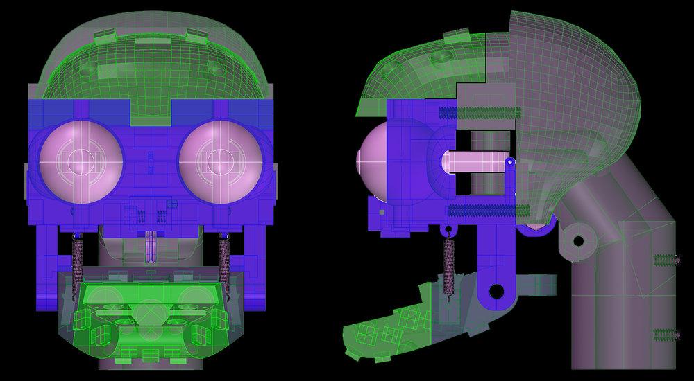 Rod Puppet Skull