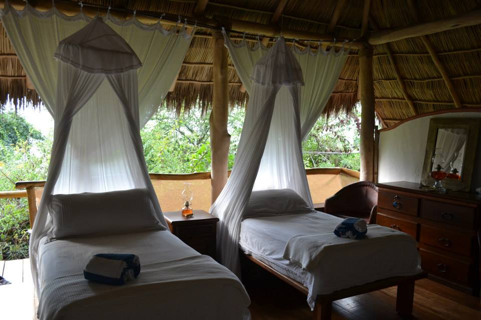 Beautiful beds- with mosquito nets if needed!