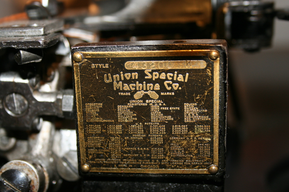 Union Special 43200, original machine from the Levi's factory in America, era 1950's.