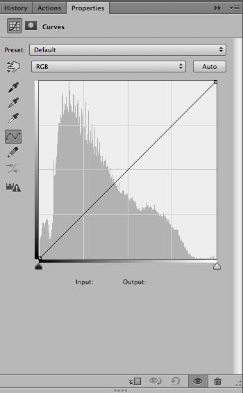 fig 3. Curves Adjustment Panel