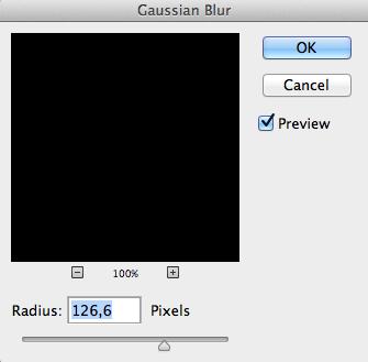 fig 12. Gaussian blur panelen