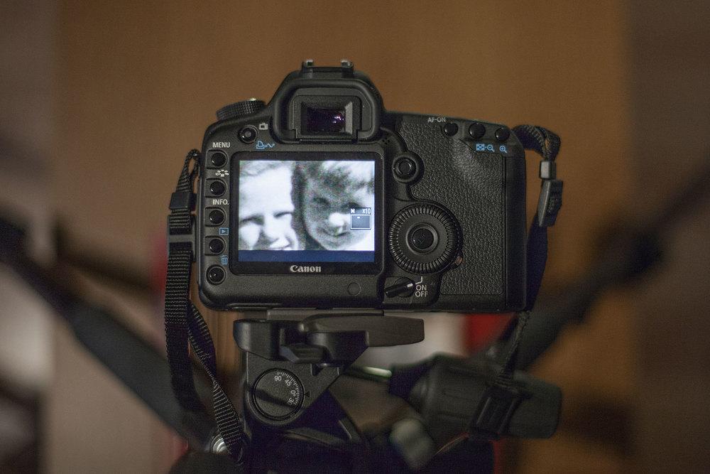 fig 4. LiveView zoomad till 10x för att kontrollera fokus