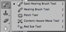 Healing Brush och Patch Tool