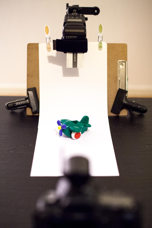 fig 3. Setup från kameravinkeln