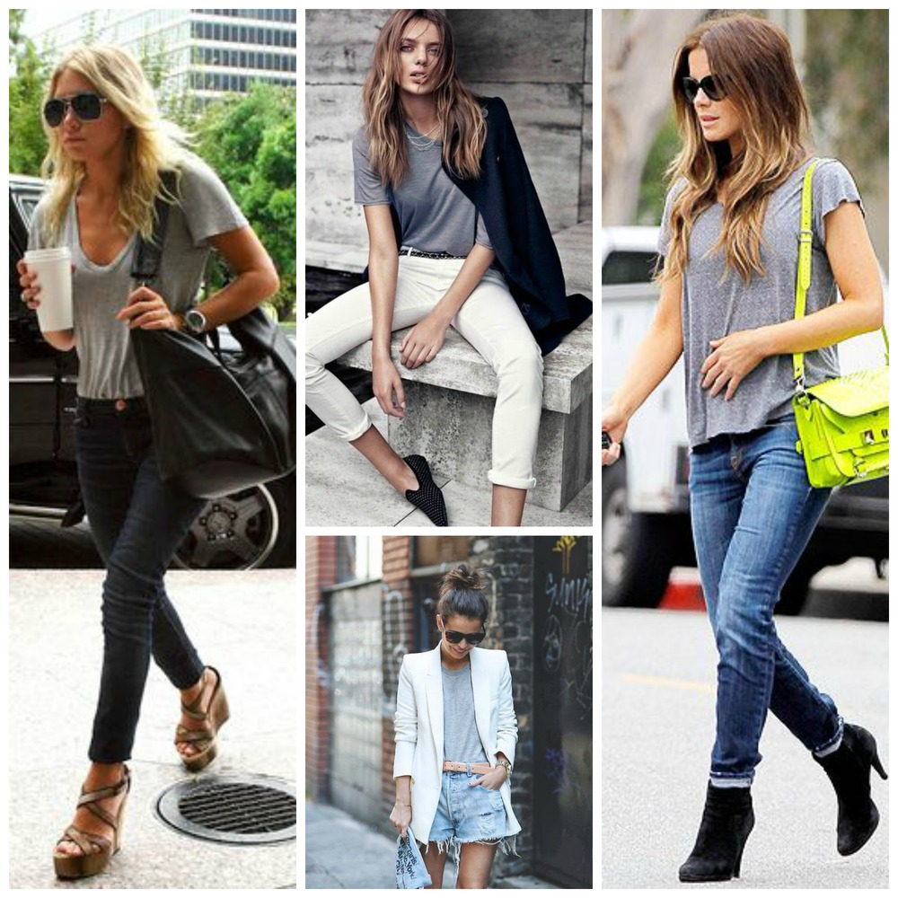 A wardrobe staple - A grey t-shirt