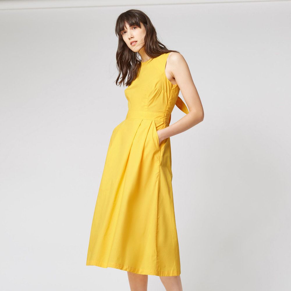 Yellow Dress Yellow is one of the most on-trend colours of the season. This dress has a neckline I would never normally go for as I think its really unflattering on most people. It usually makes their arms look bigger than they actually are and if you have a big bust it's double trouble. So why do I want it? I saw these fab yellow dress in Maje (click here) and I tired it on with the perfect denim jacket and I just loved the look -but the price was too much, so this is an affordable alternative! A client recently bought both the Maje yellow dress and the Maje denim jacket and it was sooo nice. I had major client wardrobe envy. Click here for link.