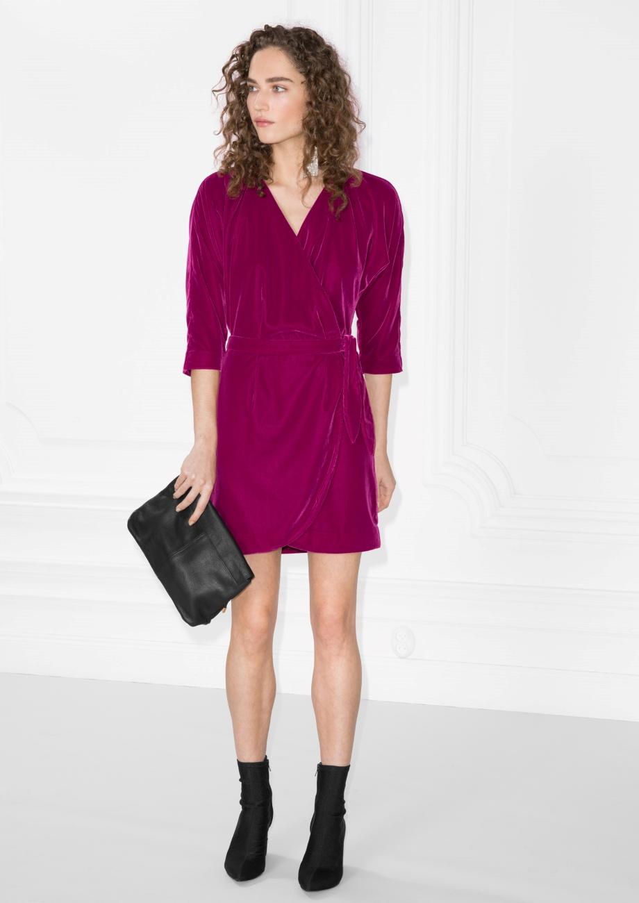 Velvet Wrap Dress €89